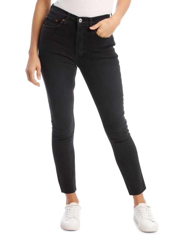 High-Rise Cropped Comfort Stretch Jeans image 1