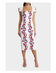 Yeojin Bae - Double Crepe Vine Floral Therese Dress