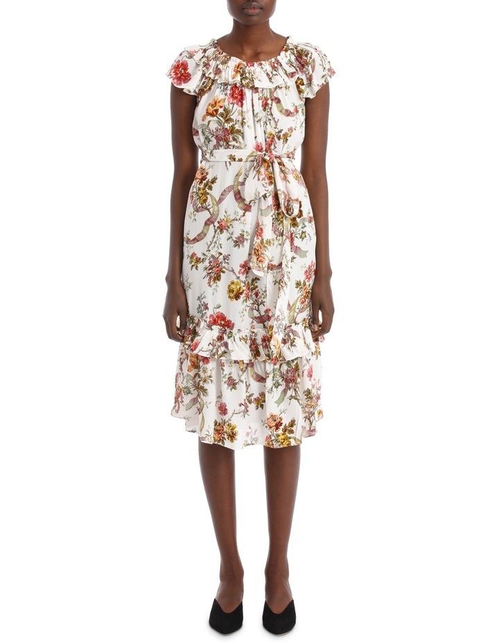 Rainbow Rose Tiered Dress. image 1