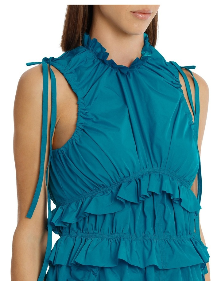 Dress With Ruffles/Drawstring image 4