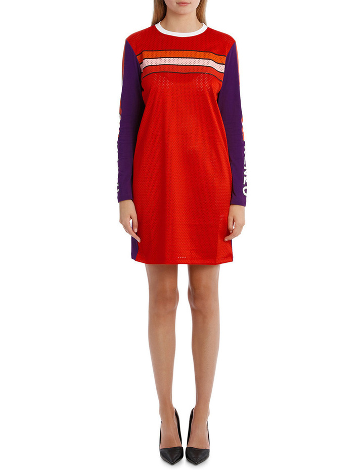 Patch Long Sleeves Dress image 1