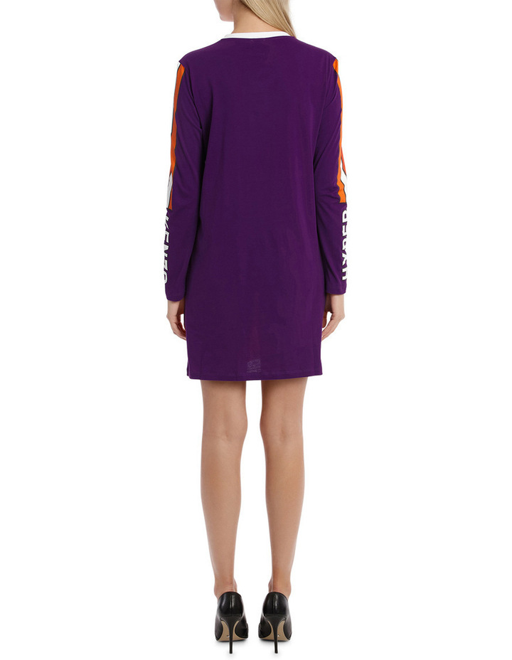 Patch Long Sleeves Dress image 3