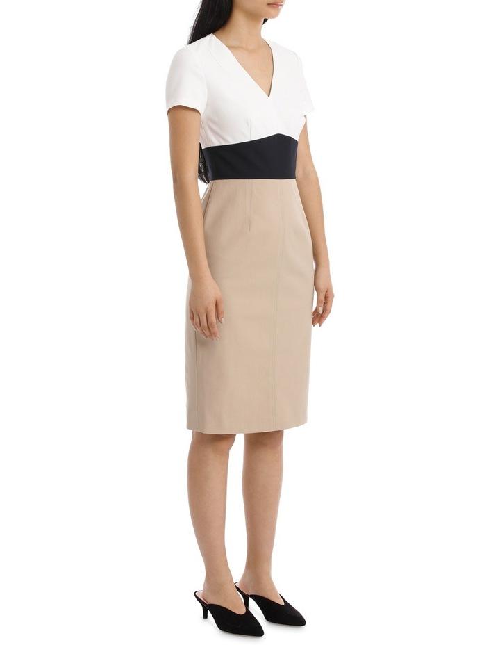 Short Sleeve V-Neck Tailored Dress image 2