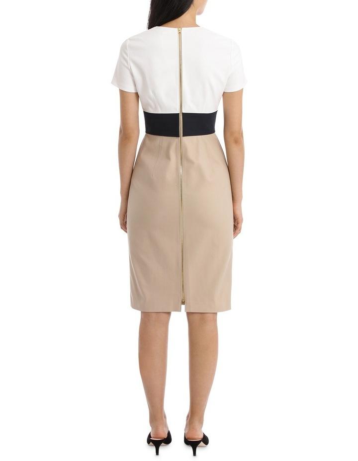 Short Sleeve V-Neck Tailored Dress image 3