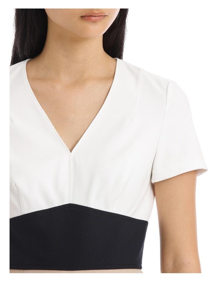 Short Sleeve V-Neck Tailored Dress image 4