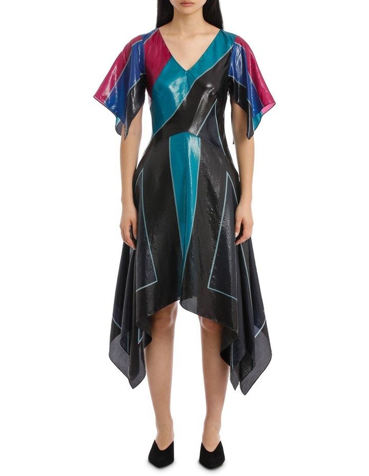Flutter Sleeve V Neck Dress image 1