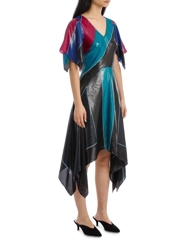Flutter Sleeve V Neck Dress image 2