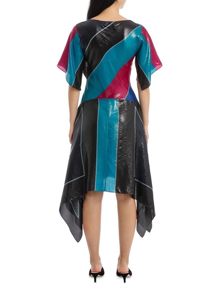 Flutter Sleeve V Neck Dress image 3