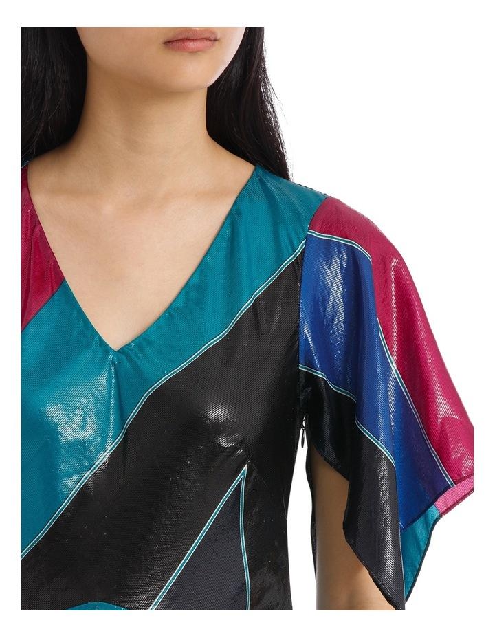 Flutter Sleeve V Neck Dress image 4
