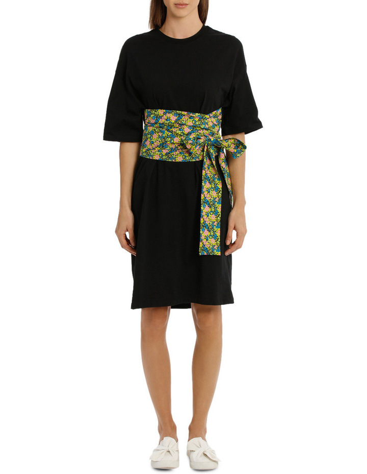 Bow Pope Line T-Shirt Dress image 1