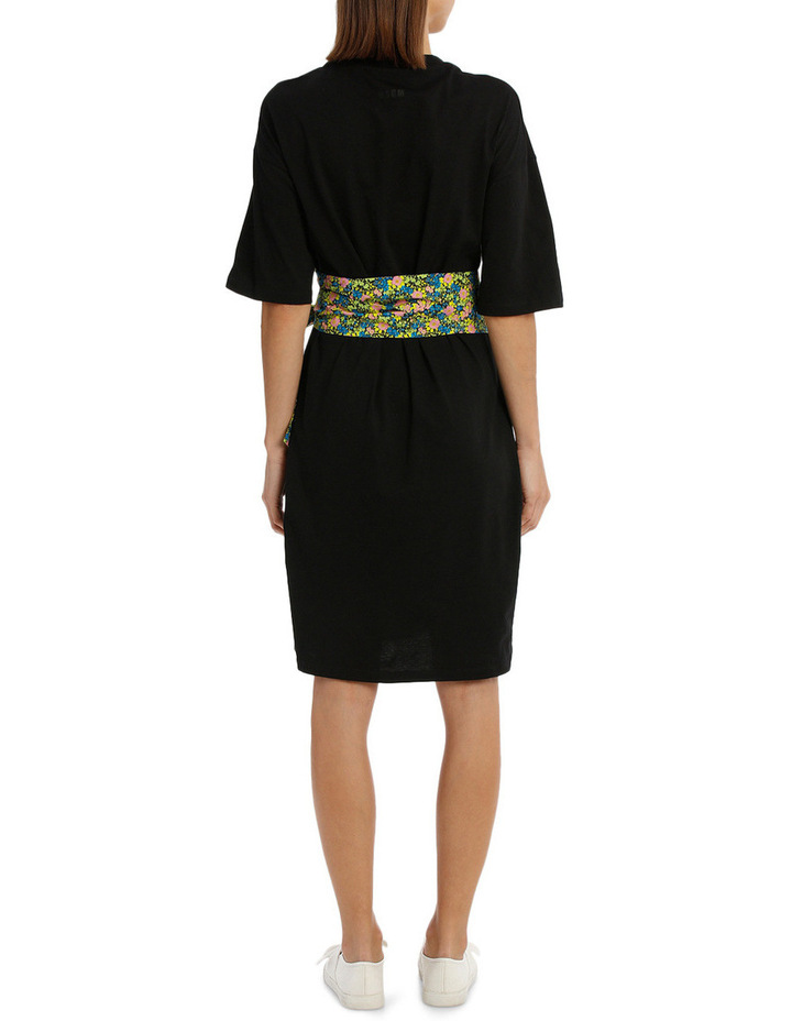 Bow Pope Line T-Shirt Dress image 3