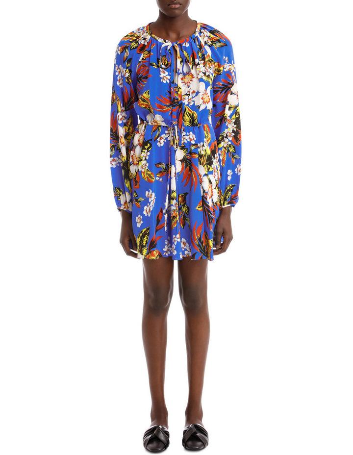 Long Sleeve High Neck Halter Dress image 1