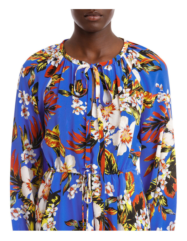 Long Sleeve High Neck Halter Dress image 4