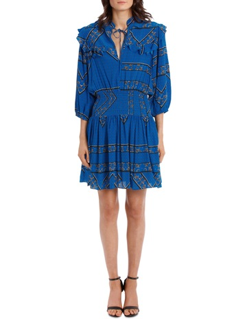 01bd733c Ganni Cloverdale Silk Dress