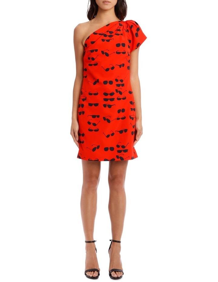 One Shoulder Tuck Dress image 1