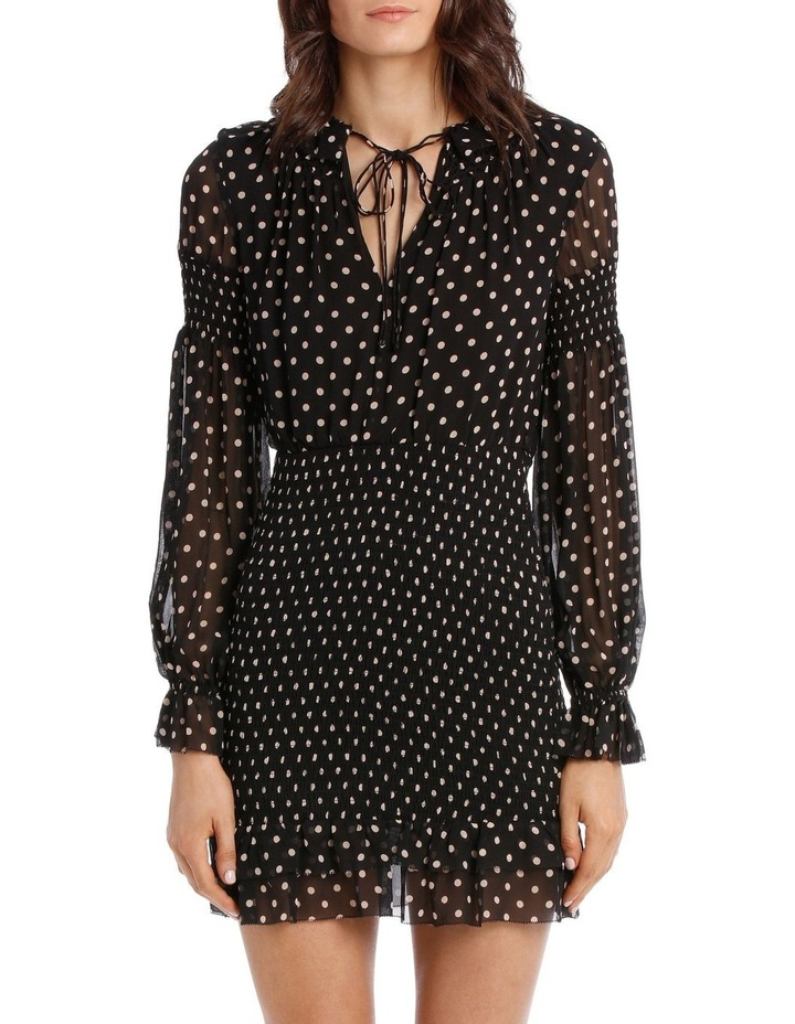 Polka Dot Smocked Mini Dress image 1