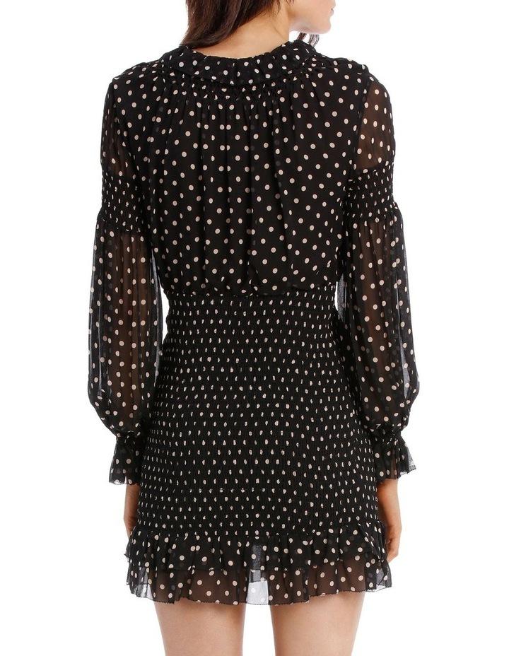 Polka Dot Smocked Mini Dress image 3