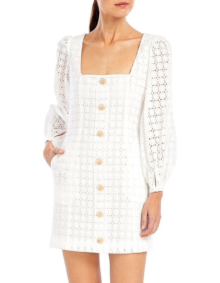 Sookie Shift Mini Dress in Ivory Broderie image 1