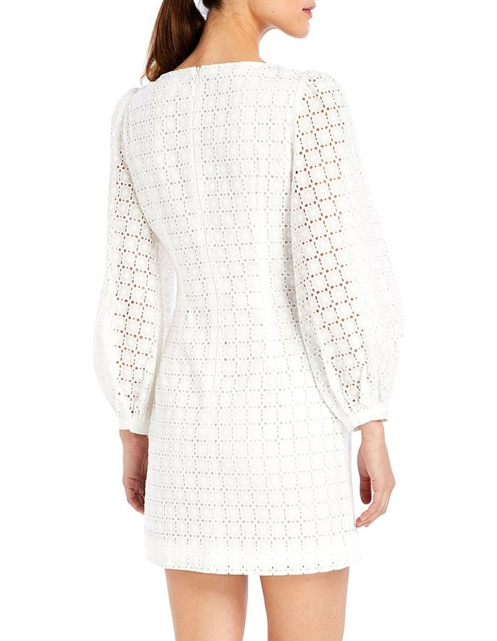 Sookie Shift Mini Dress in Ivory Broderie image 2