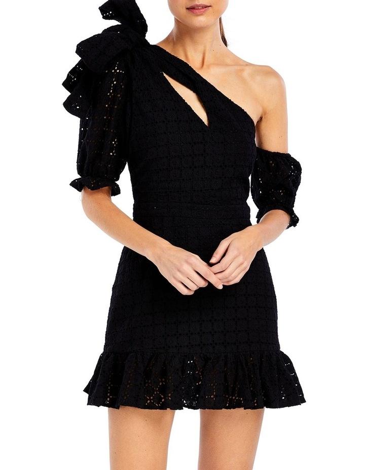 Sookie Asymmetric Dress in Black image 1