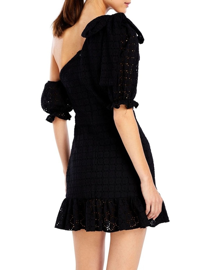 Sookie Asymmetric Dress in Black image 2