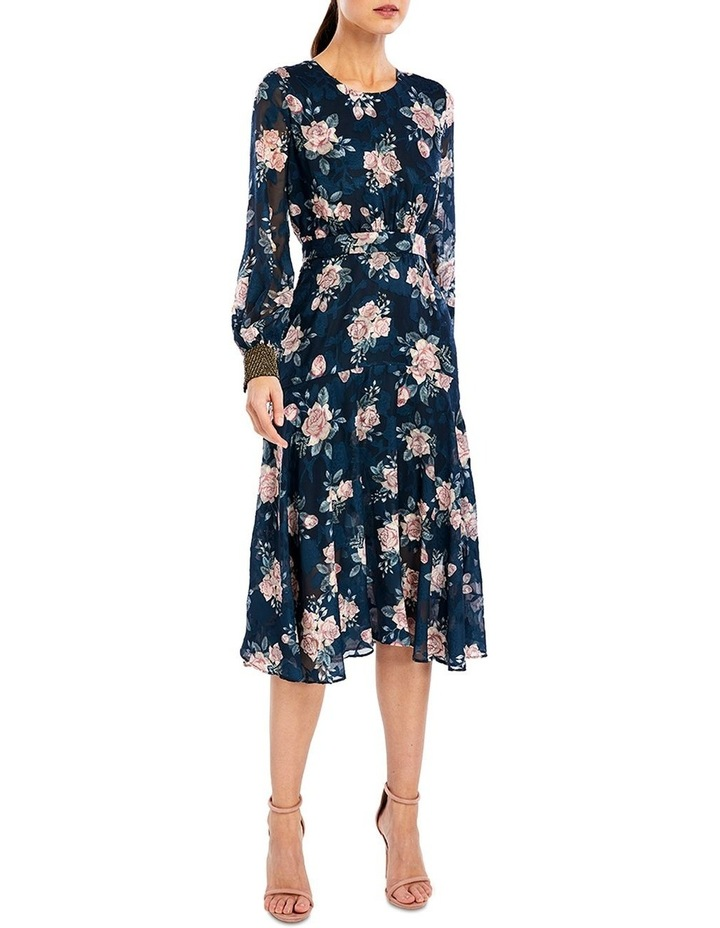 Lucille Midi Dress in Ink Rose image 1