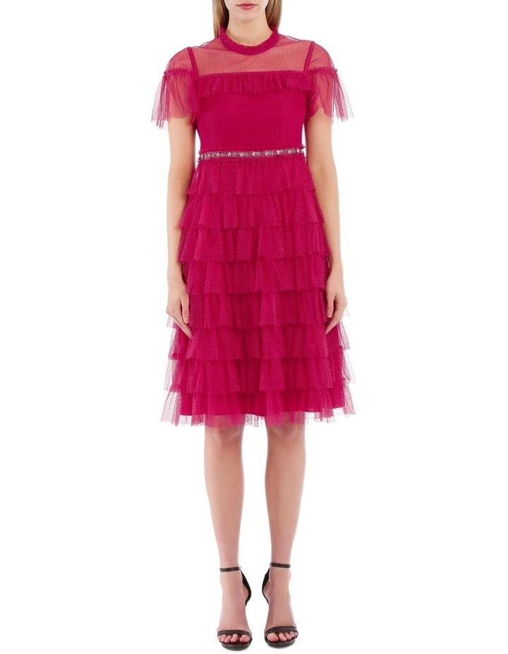 Dotted Ruffle Dress image 1