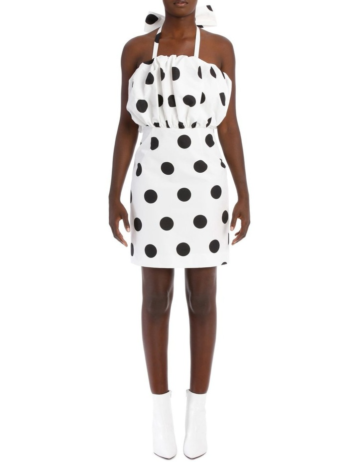 Faille Polka Dots Mini Dress image 1