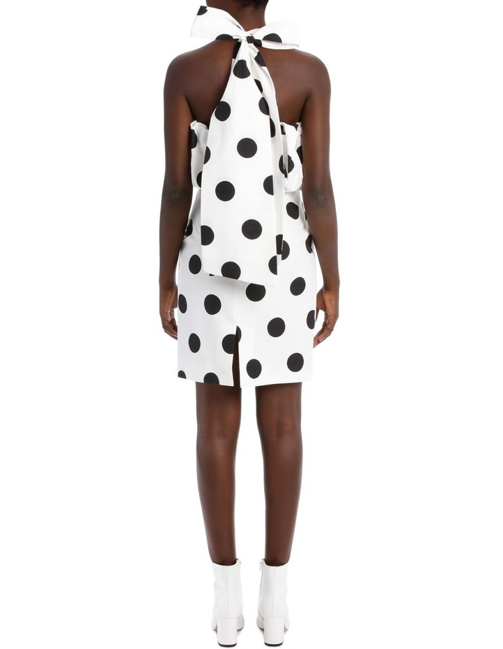 Faille Polka Dots Mini Dress image 3