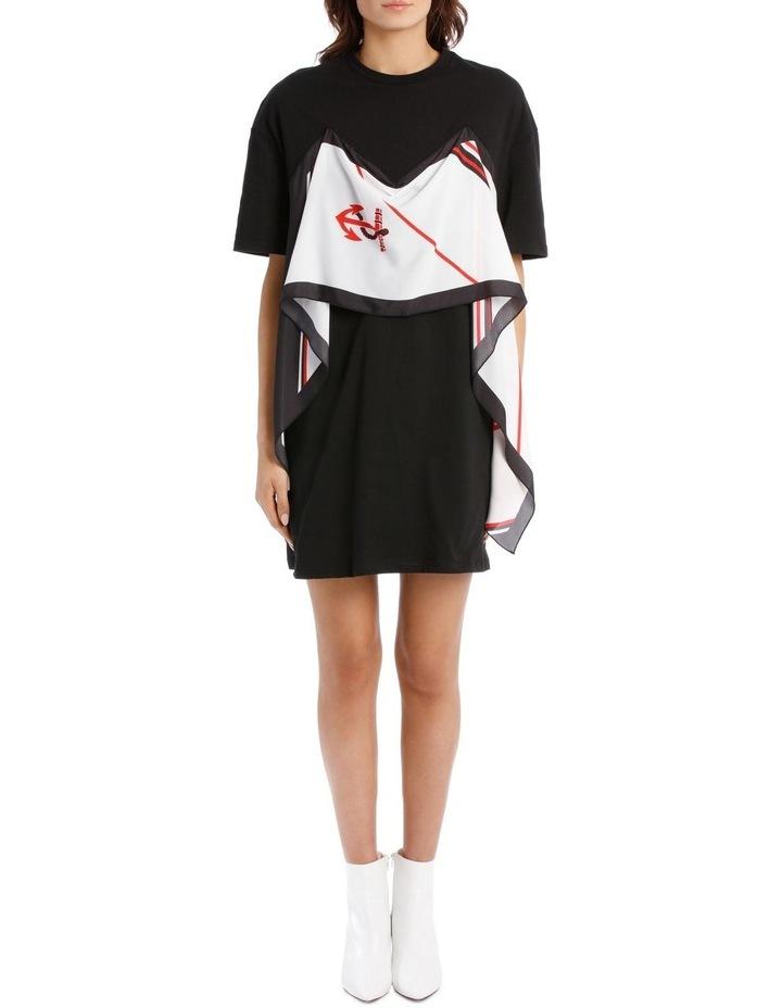 T-Shirt Dress With Foulard Draping image 1