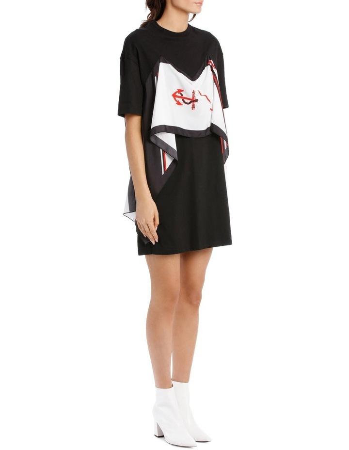 T-Shirt Dress With Foulard Draping image 2