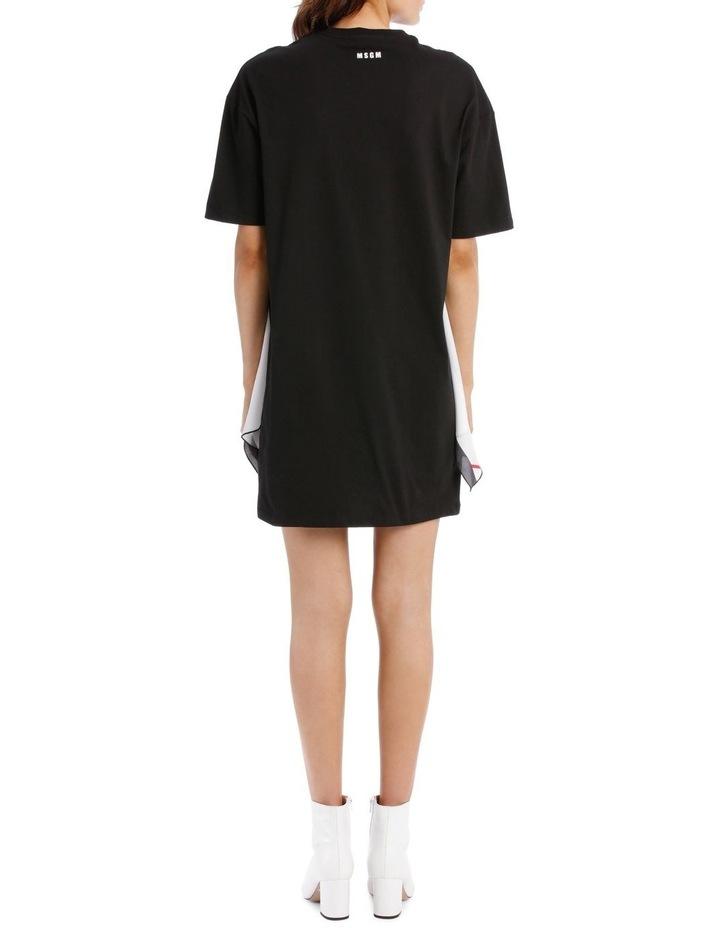 T-Shirt Dress With Foulard Draping image 3