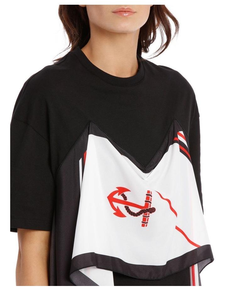 T-Shirt Dress With Foulard Draping image 4