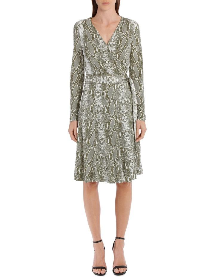 Elowen Wrap Dress In Python Print image 1