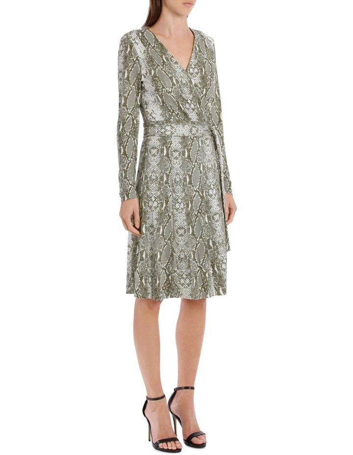 Elowen Wrap Dress In Python Print image 2