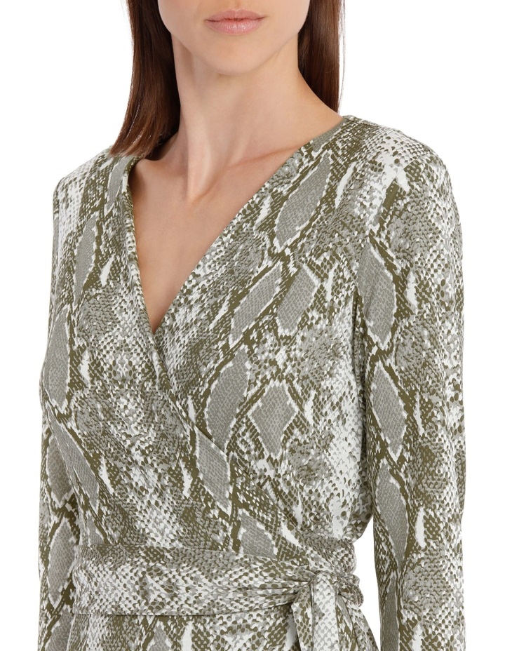 Elowen Wrap Dress In Python Print image 4