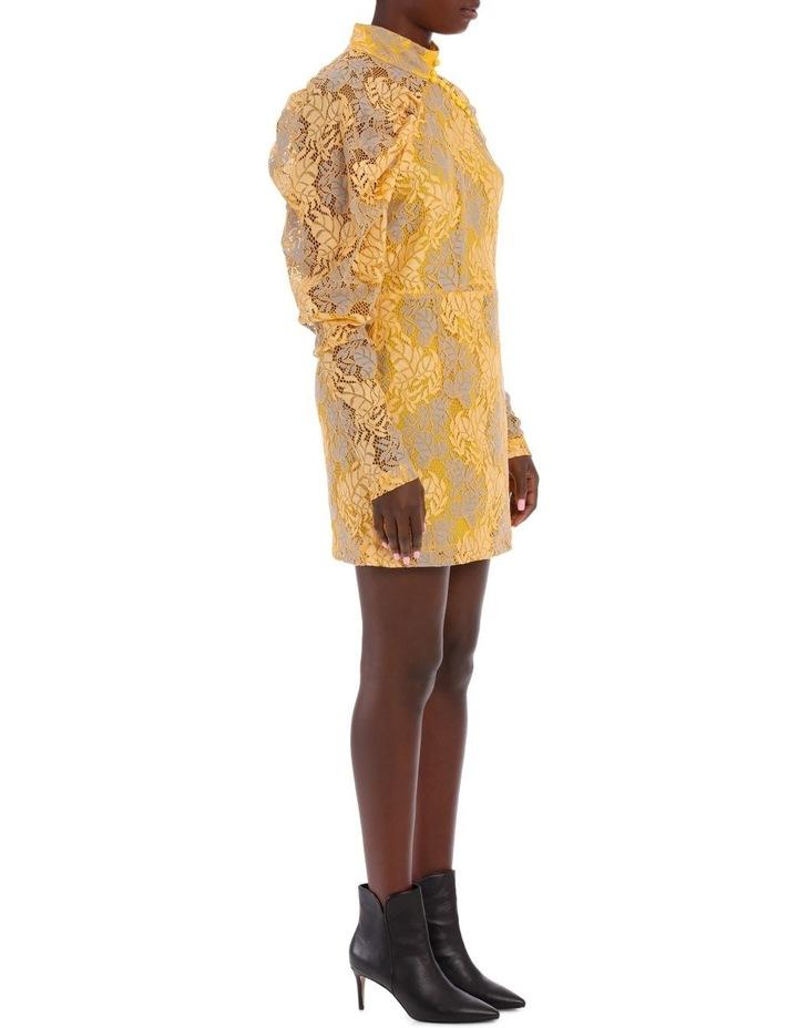 Lace Puff Sleeve Mini Dress image 2
