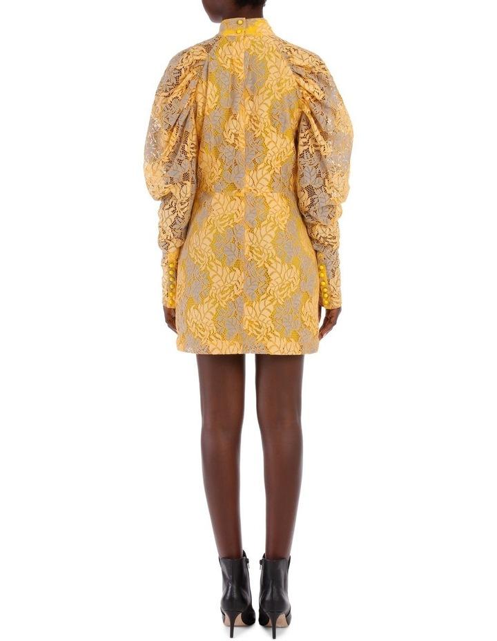 Lace Puff Sleeve Mini Dress image 3