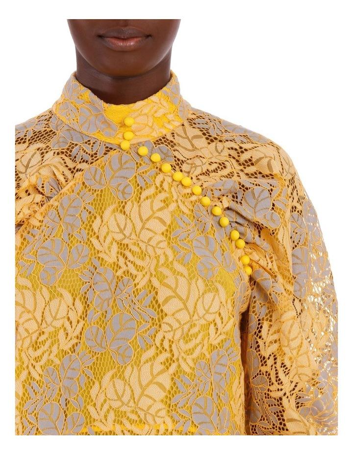 Lace Puff Sleeve Mini Dress image 4