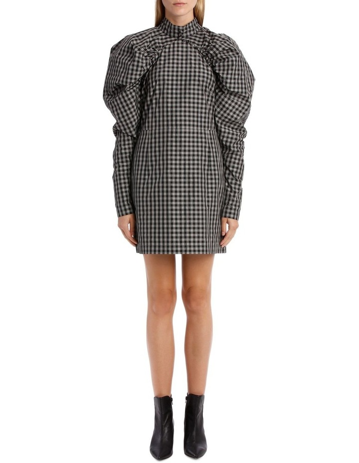 Puff Sleeve Mini Dress image 1