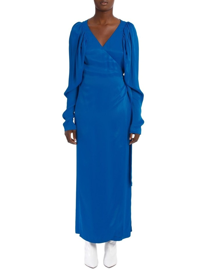 Long Sleeve Midi Wrap Dress image 1
