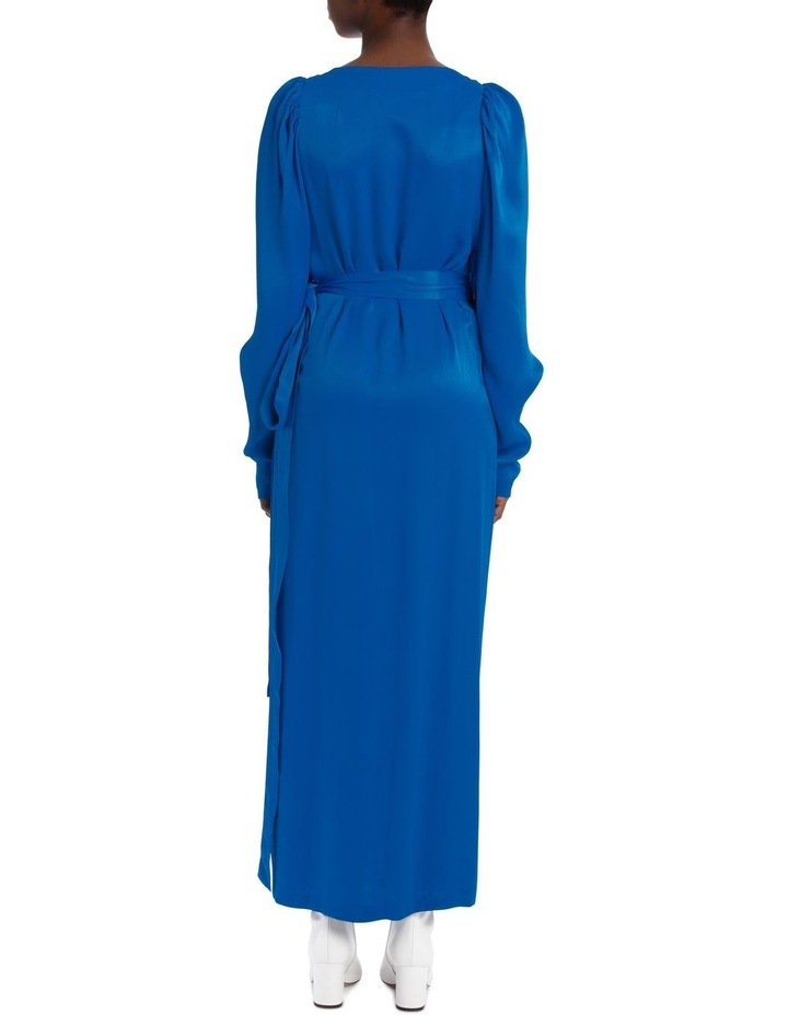 Long Sleeve Midi Wrap Dress image 3