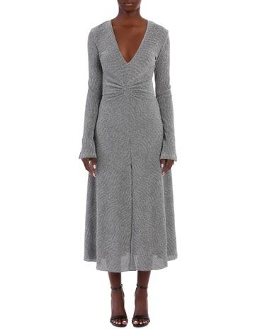 e6b1d0cfc194 Limited stock. ROTATE By Birger ChristensenLong Sleeve Metallic Midi Dress
