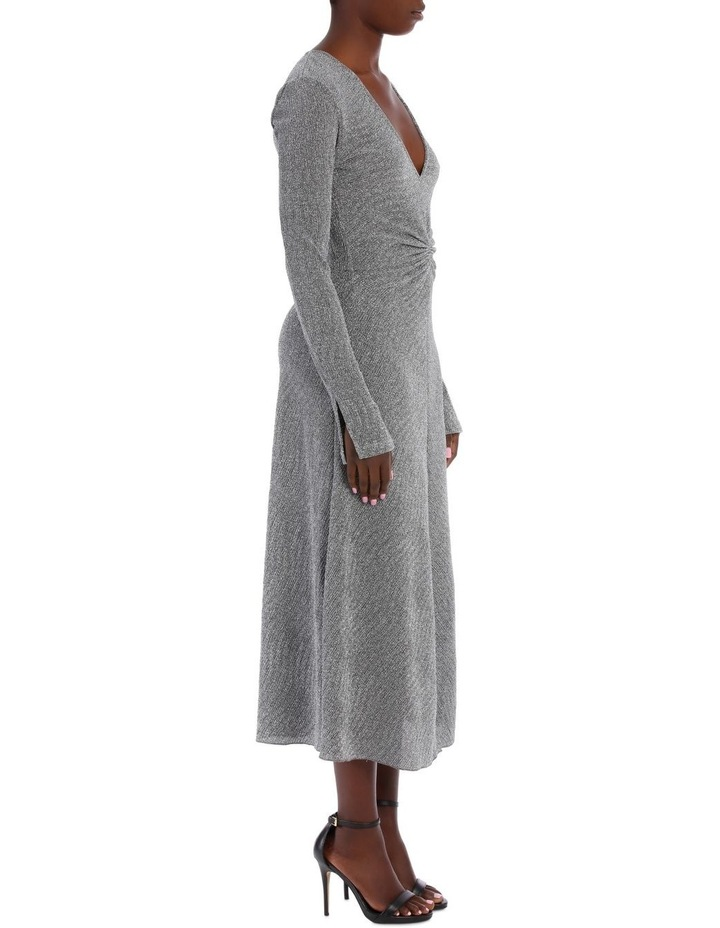 Long Sleeve Metallic Midi Dress image 2