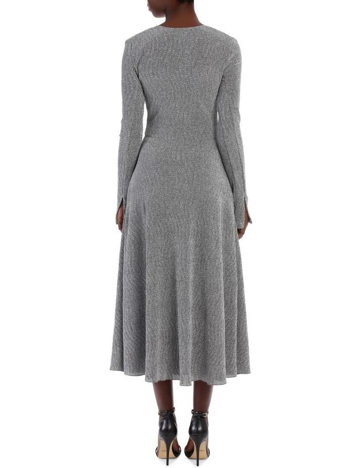 Long Sleeve Metallic Midi Dress image 3