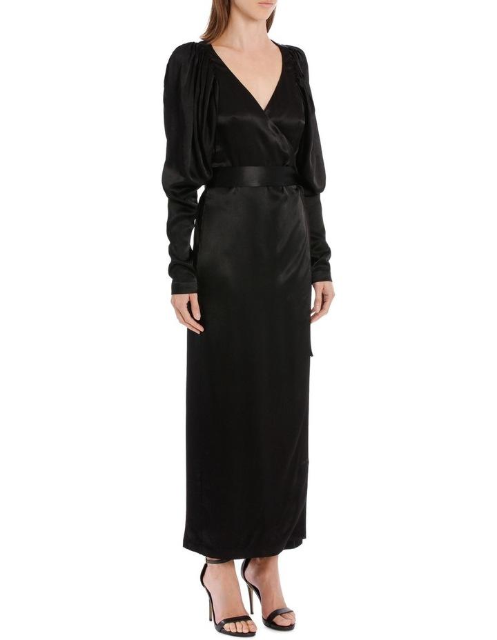 Long Sleeve Midi Wrap Dress image 2