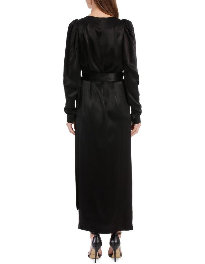 Long Sleeve Midi Wrap Dress image 3