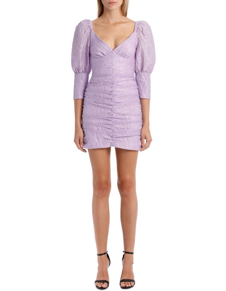 Puff Sleeve Ruched Mini Dress image 1
