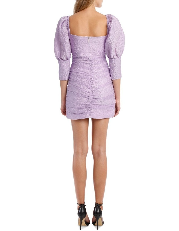 Puff Sleeve Ruched Mini Dress image 3