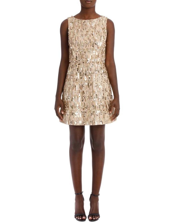 Lindsey Embellished Stretched Pouf Dress image 1
